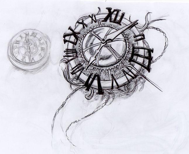 Diseño De Reloj Zonatattoos