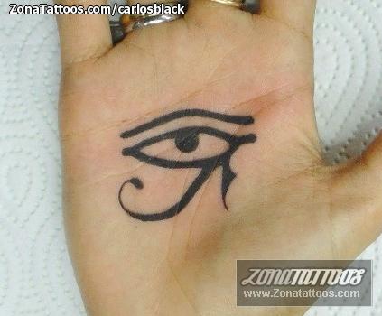 Tatuaje De Ojo De Horus Egipcios Mano