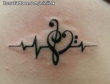 Tatuajes Y Diseños Con Electrocardiogramas