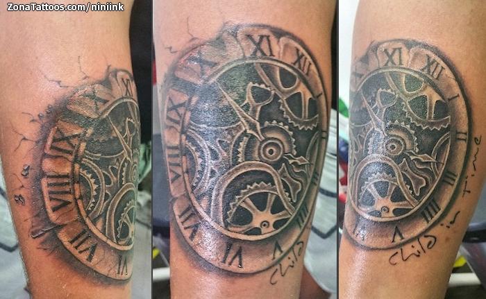 Tatuaje De Relojes Engranajes