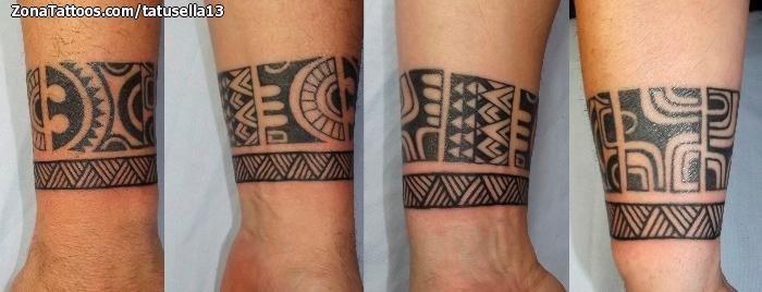 Tatuaje de Maoríes, Muñeca, Brazaletes