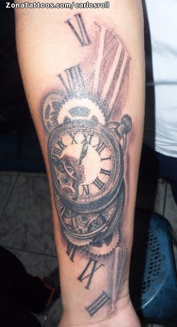 Tatuaje De Relojes Numeros Romanos