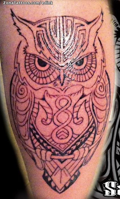 Tatuaje De Buhos Gemelo Aves - Tattoo-gemelos