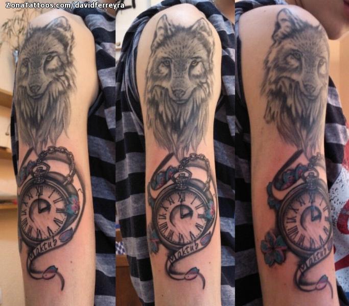 Tatuaje De Lobos Animales Relojes