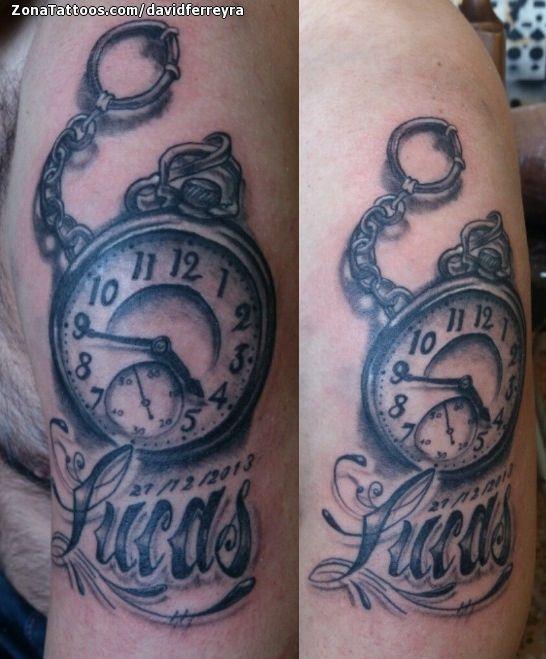 Tatuaje De Relojes Lucas Nombres