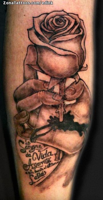 Tatuaje de Rosas Manos Gemelo