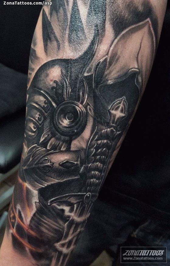Tatuaje De ángeles Guerreros