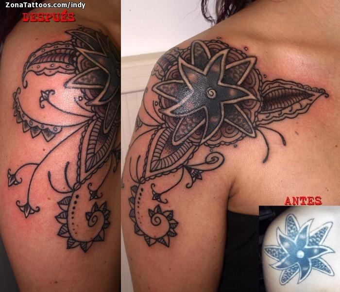 Tatuaje De Mándalas Cover Up Hombro