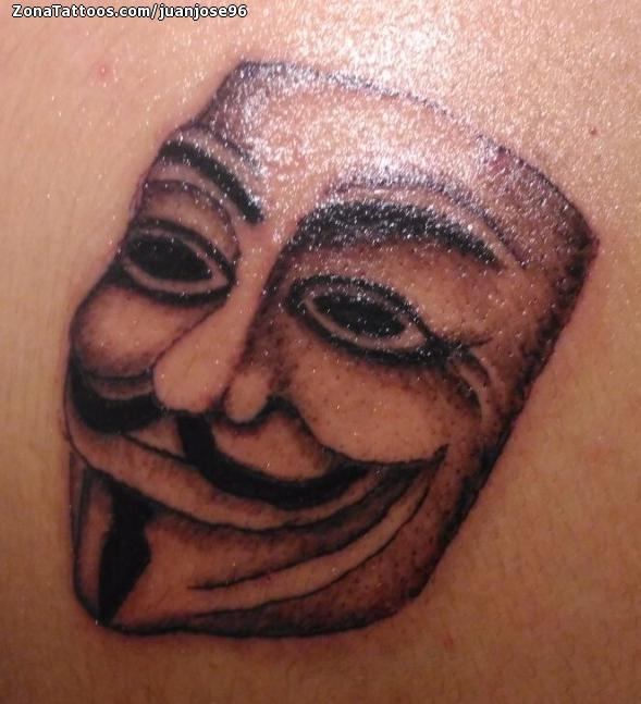 Tattoo Of V For Vendetta Masks Movies