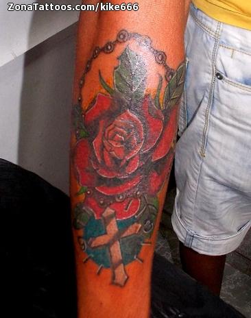 Tatuaje De Rosas Flores Rosarios