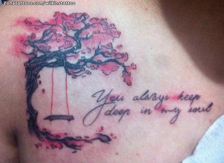 Tatuaje De Cerezos Flores árboles