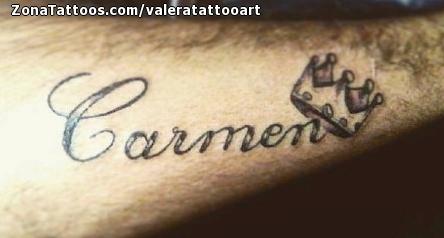 Tatuaje De Carmen Letras Nombres