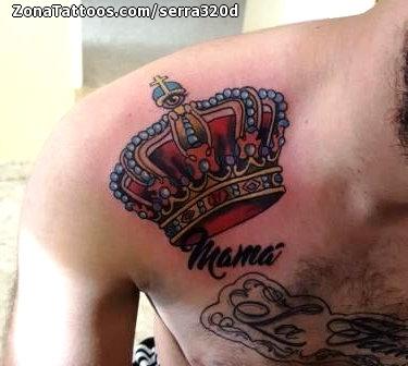 Tattoo Of Crowns Shoulder