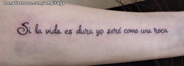 Tatuaje De Frases Letras Antebrazo