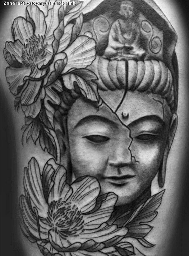 Tatuaje De Budas Flores Peonías