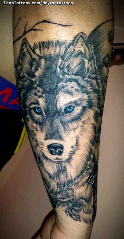 Tatuaje De Lobos Animales Antebrazo