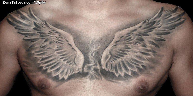 Tatuaje De Alas Pecho