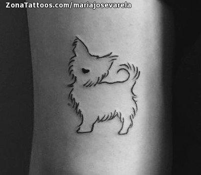 Tatuaje De Perros Animales Pequeños