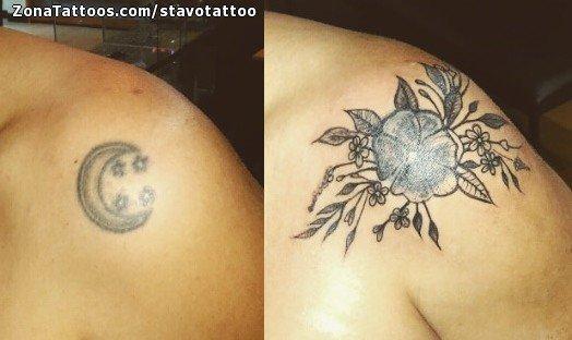 Tatuaje De Flores Hombro Cover Up