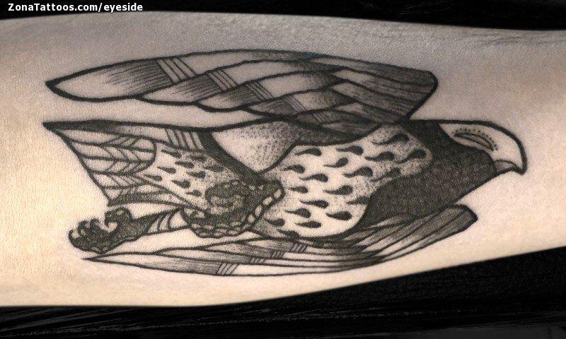 Line Art Animals Tattoo : Tattoo of hawks birds animals