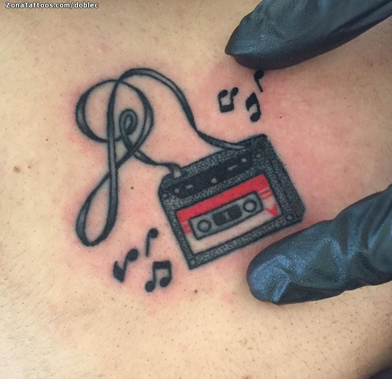 Tatuaje De Cassettes Pequenos Musica