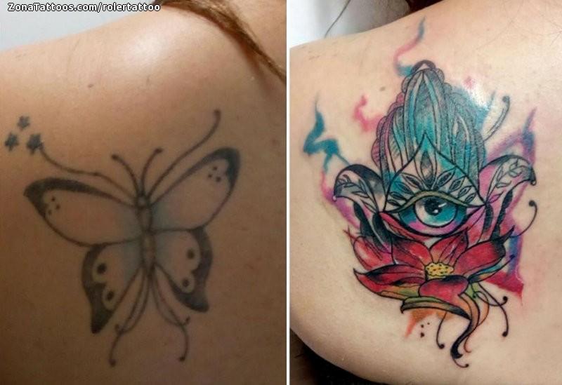 Tattoo Of Cover Up Hamsa Lotus