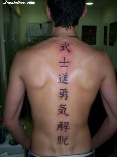 Tatuaje De Kanjis Letras Chinas Chino