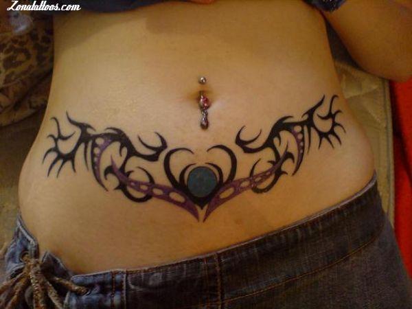 Tatuaje De Tribales Cintura