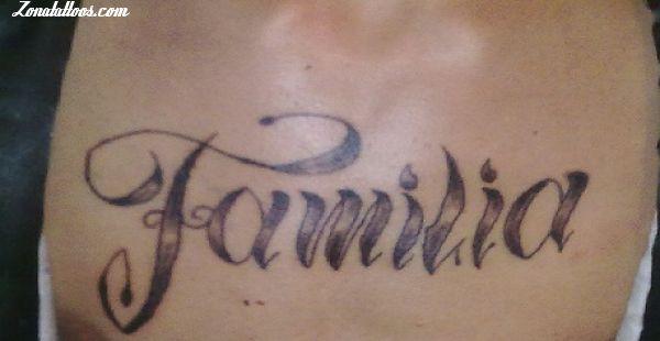 Tatuaje De Familia Letras Frases