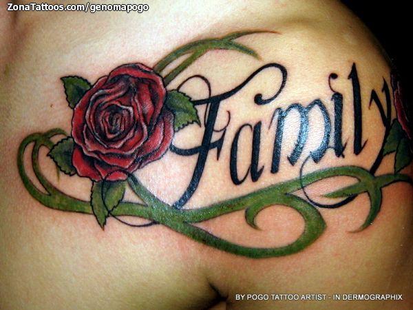 Tatuaje De Frases Rosas Familia