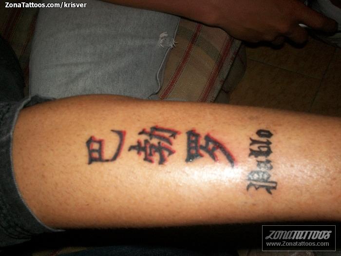 Tatuaje de Chino Letras Nombres