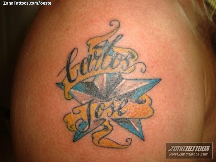 Tatuaje De Estrellas Nombres Carlos - Tatuajes-de-estrellas-con-nombres