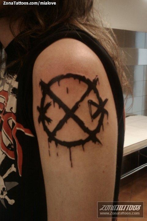 Tattoo Of Logos Music Symbols