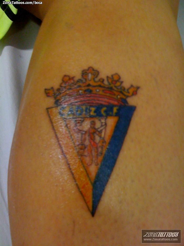 Tattoo Of Badges Soccer Football Sports
