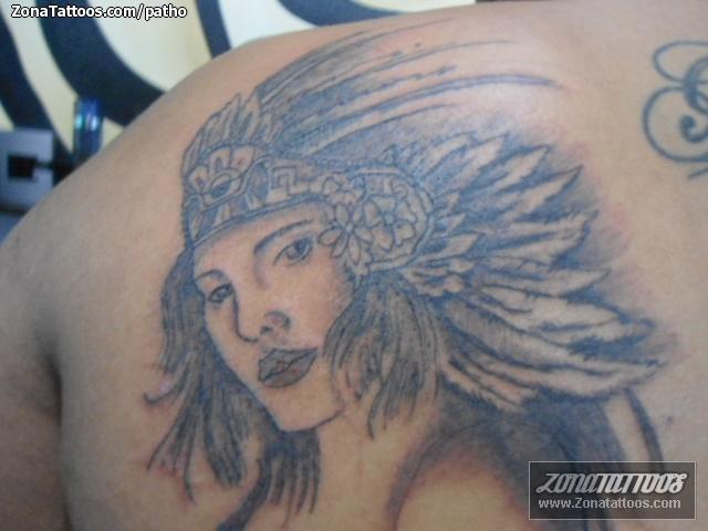 Tatuaje De Indios Aztecas Rostros