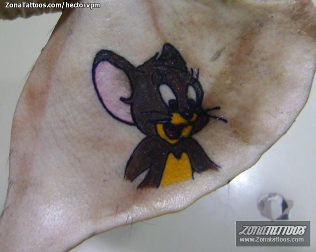 Tatuaje de tom y jerry ratones piel de cerdo for Tom and jerry tattoo
