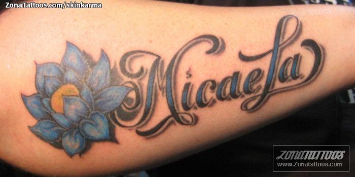 Tatuajes Nombres Con Flores Fabulous Nombres With Tatuajes Nombres