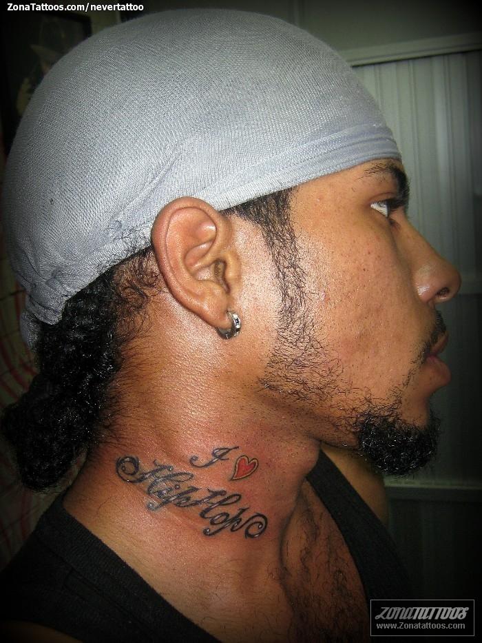 Tatuaje De Letras Cuello Frases