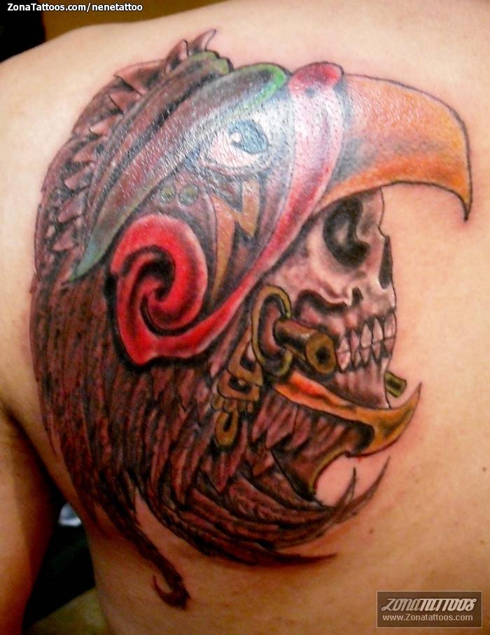 Tatuaje De Calaveras Prehispánicos