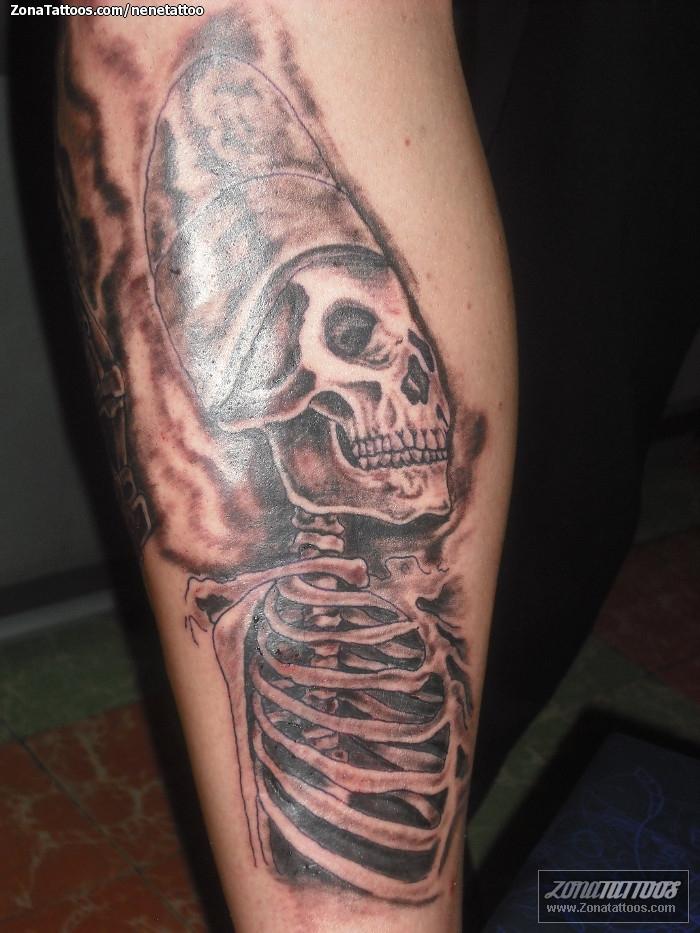 Tatuaje de prehisp nicos esqueletos for Tattoos mexicanos fotos
