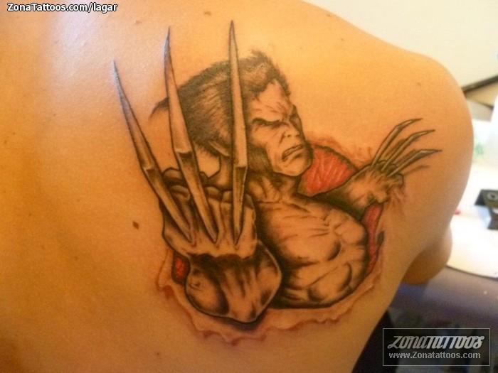 Tatuaje De Comics Lobezno X Men