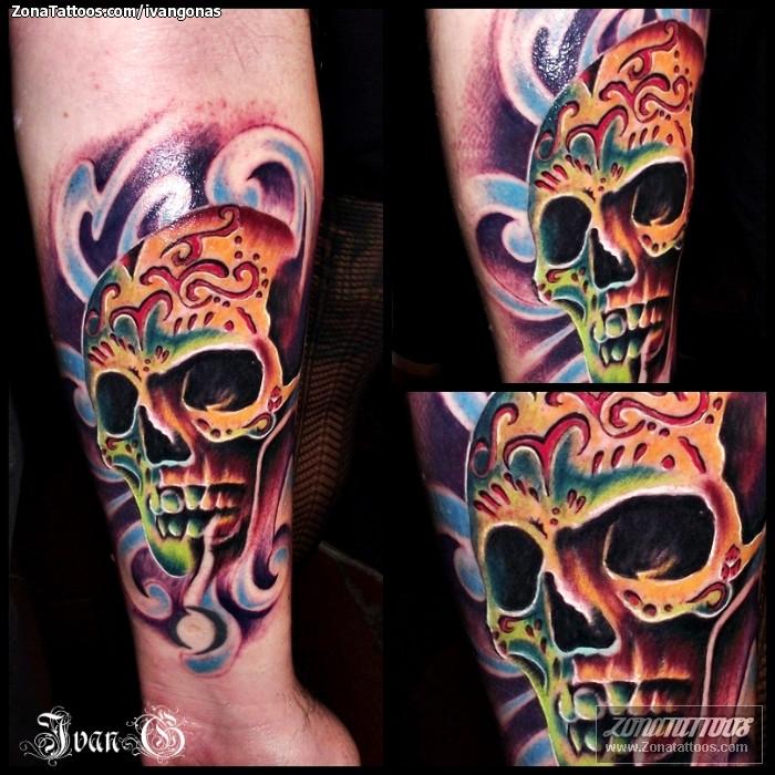 Tatuaje De Sugar Skull Calaveras