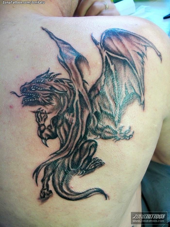 Tatuaje de tonitatu - Dragones Fantas�a