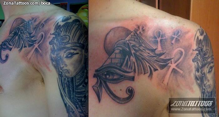 tatuaje de egipcios ojo de horus