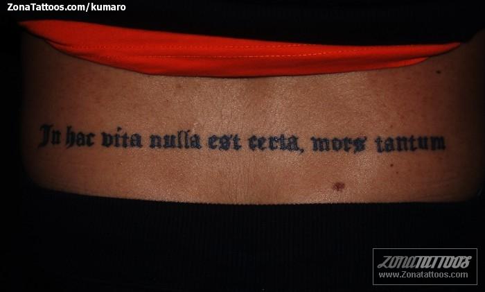Tatuaje De Letras Frases Latín