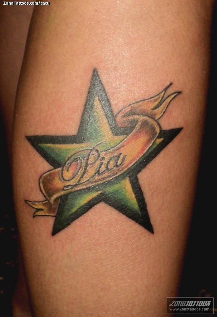 Tatuaje De Estrellas Nombres Letras - Tatuajes-de-estrellas-con-nombres