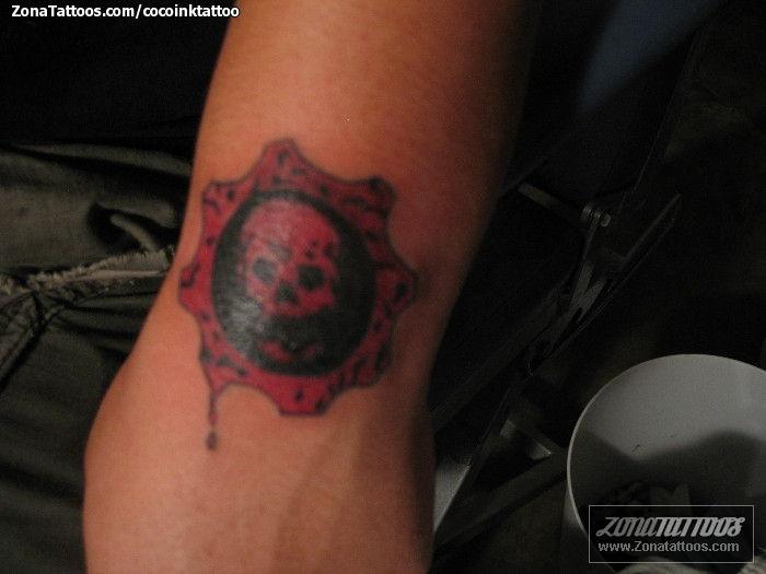 Tatuaje De Gears Of War Videojuegos