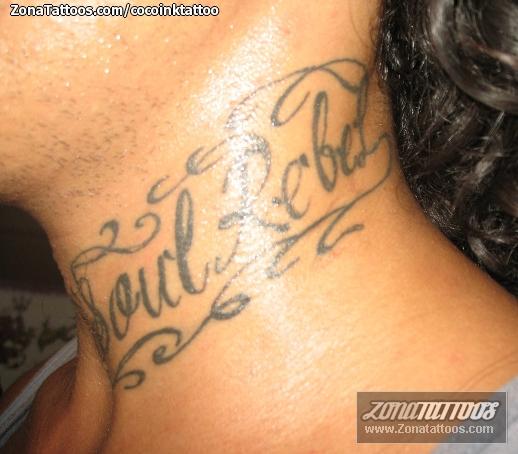 Tatuaje De Cuello Letras