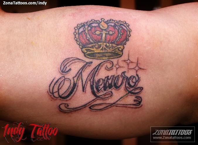 Tatuaje de Indy - Coronas Nombres Letras