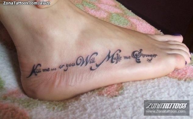 Tatuaje De Frases Letras Pie